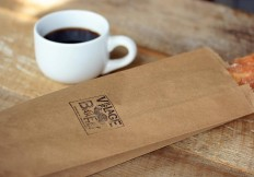Village Bakery Coffee and Baguette Bag